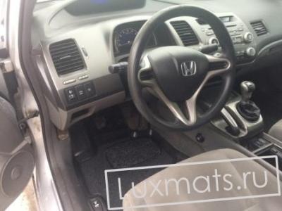 Автомобильные коврики в салон для Honda Civic 4D (Хонда Сивик) (2006-2011) 3D с ковролином