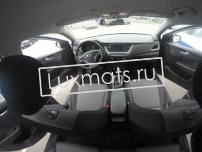 Автомобильные коврики в салон для Hyundai Solaris 2 (Хендай Солярис 2) (2017-н.в.) 3D с ковролином