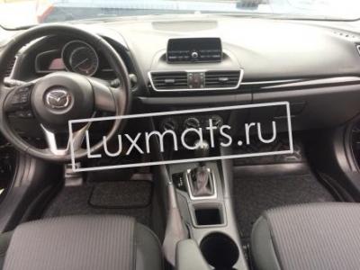 Автомобильные коврики в салон для Mazda 3 (Мазда 3) (2013-н.в.) 3D с ковролином