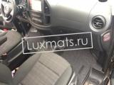 Автомобильные коврики в салон Mercedes Vito (W447)(Мерседес Вито 447 кузов) (2014-н.в.) комплект передние и салон 2-ой и 3-ий ряд. 3D с ковролином