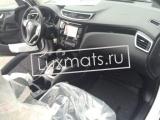 Автомобильные коврики в салон для Nissan Qashqai  (Ниссан Кашкай) New (2014-н.в.) сборка РФ 3D с ковролином